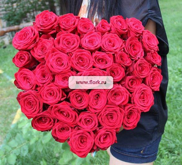 "Букет ""Сердце из роз"""
