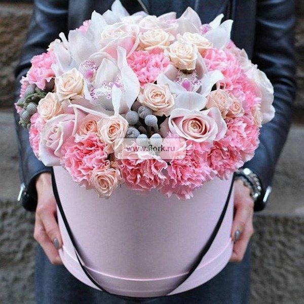 Букета из орхидей в корзине цена свадебного — photo 11