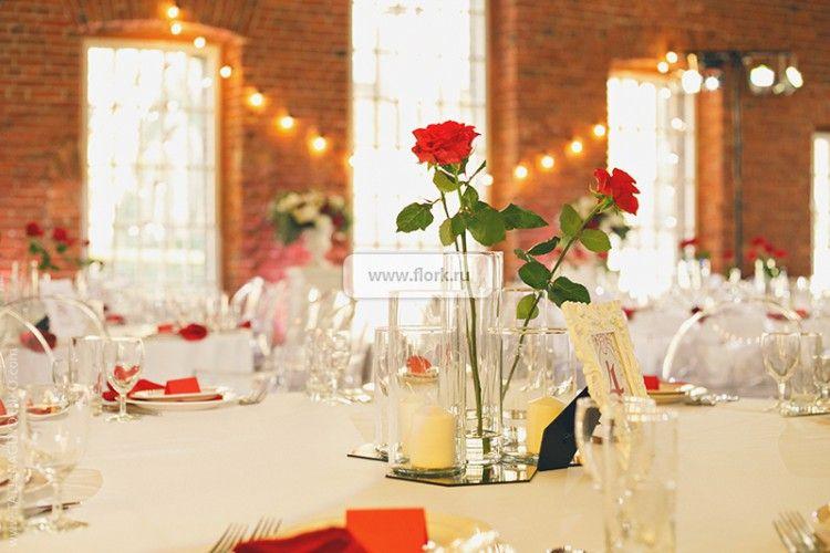 Красно-белая свадьба, White Studio: Loft 1905, 2.10.2014
